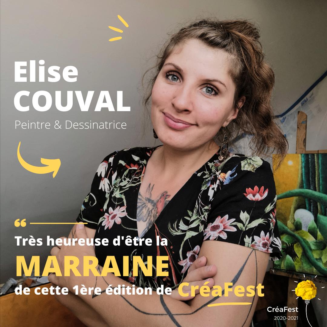 Elise Couval, Marraine de CréaFest