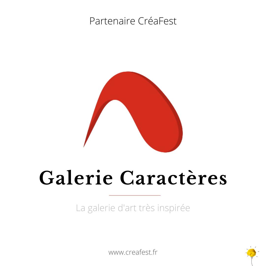Partenariat : la galerie d'art Caractères